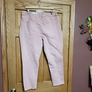 NWT Maurices Light Pink Capri Pants 15/16